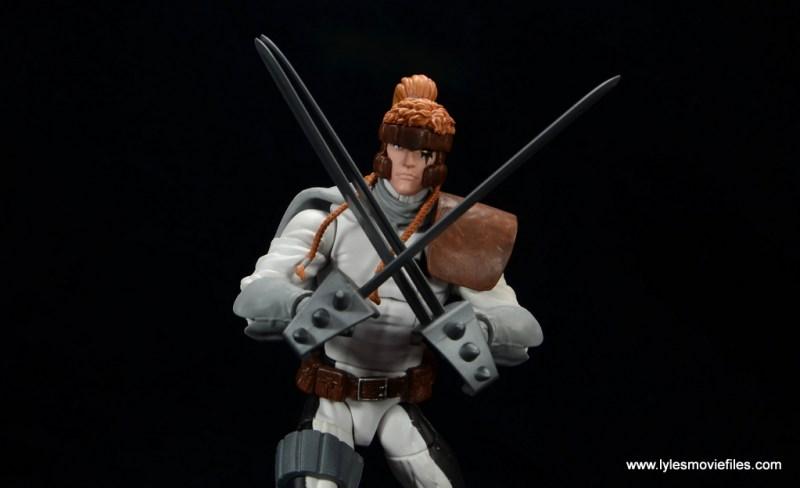 Marvel Legends Shatterstar figure review -swords up