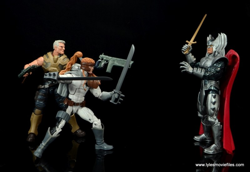 Marvel Legends Shatterstar figure review -with Cable vs Stryfe