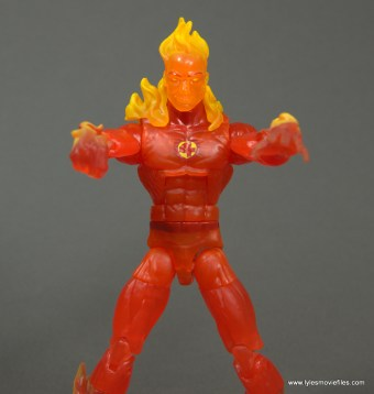Marvel Legends The Human Torch figure review -arms out