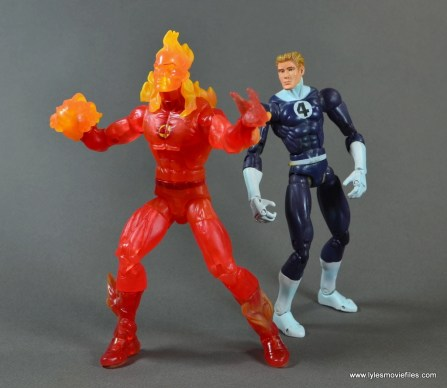 Marvel Legends The Human Torch figure review - changing into Human Torch