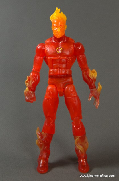 Marvel Legends The Human Torch figure review -front with no pack