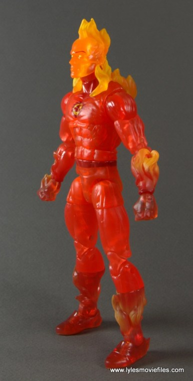 Marvel Legends The Human Torch figure review -left side