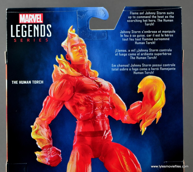 Marvel Legends The Human Torch figure review - package bio