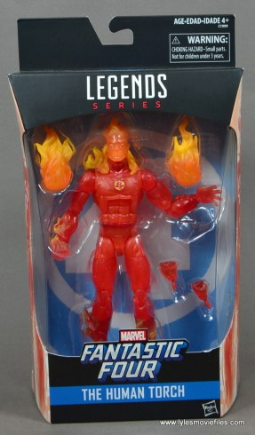 Marvel Legends The Human Torch figure review - package front