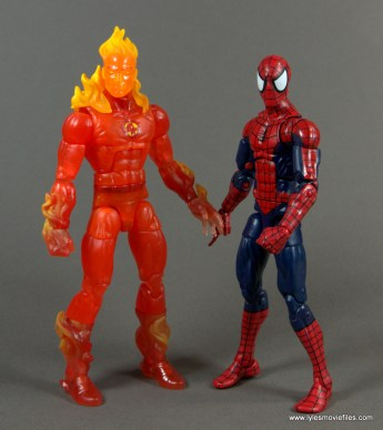 Marvel Legends The Human Torch figure review - with Spider-Man