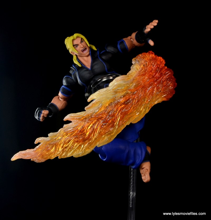 Storm Collectibles Street Fighter V Ken figure review - flaming Hurricane kick