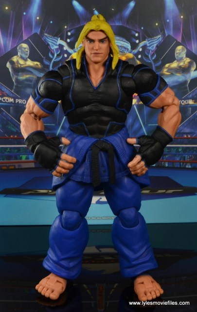 Storm Collectibles Street Fighter V Ken figure review - front