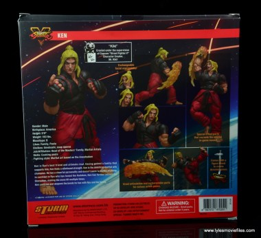 Storm Collectibles Street Fighter V Ken figure review -package rear