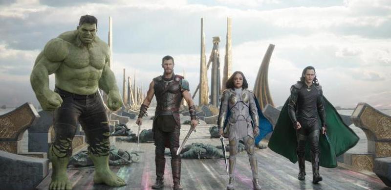 Thor Ragnarok review - Hulk, Thor, Valkyrie and Loki