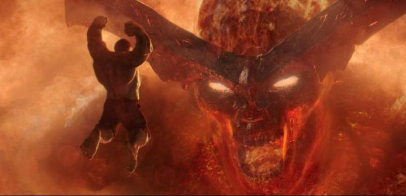 Thor: Ragnarok review - Hulk vs Surtur