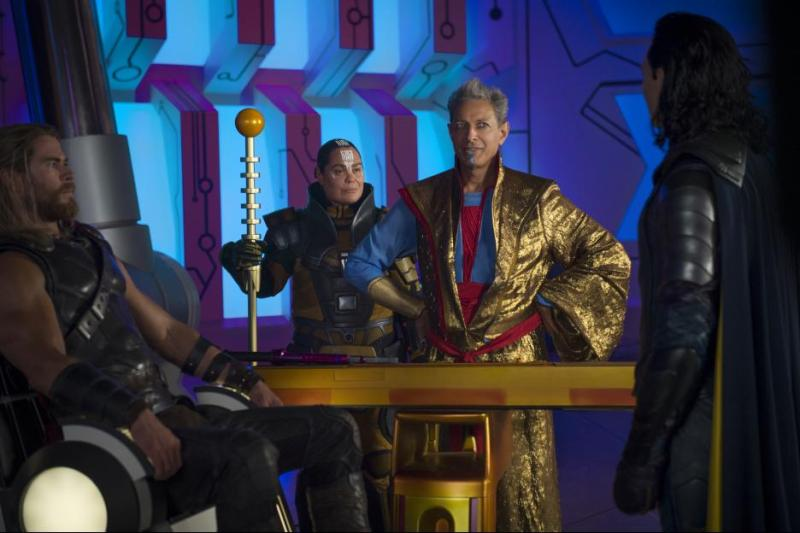Thor Ragnarok review - Thor, Topaz, The Grandmaster and Loki