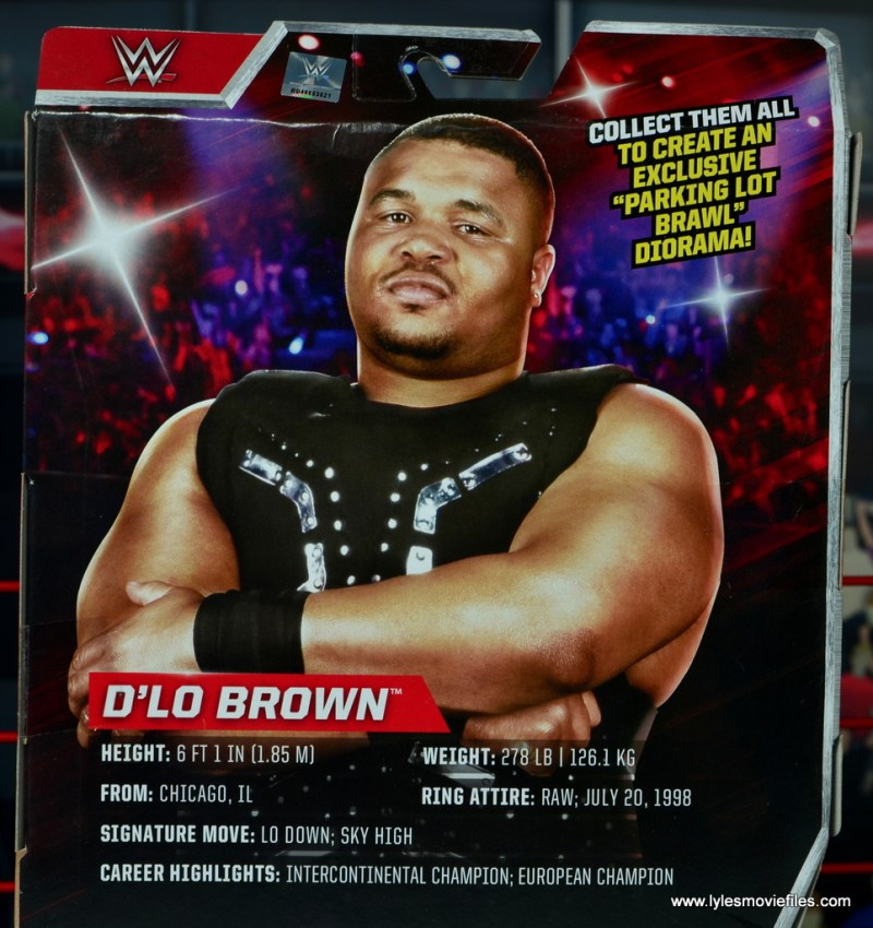 WWE Elite D-Lo Brown figure review - bio