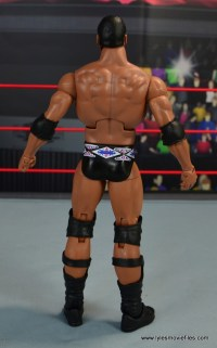 WWE Elite Farooq and The Rock Nation of Domination figure review set - The Rock rear