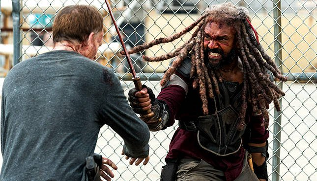 The Walking Dead Some Guy review Ezekiel fighting