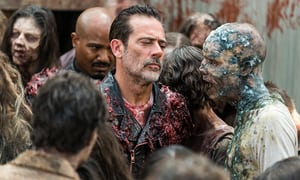 The Walking Dead The Big Scary U review -Gabriel and Negan