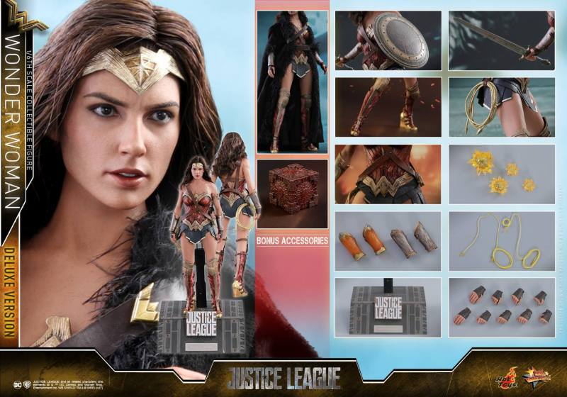 Hot Toys Justice League Wonder Woman figure -collage