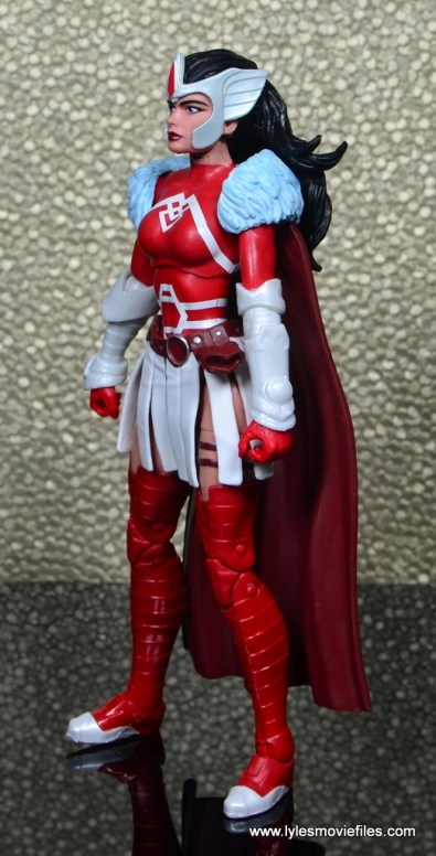 Marvel Legends A-Force Lady Sif figure review -left side