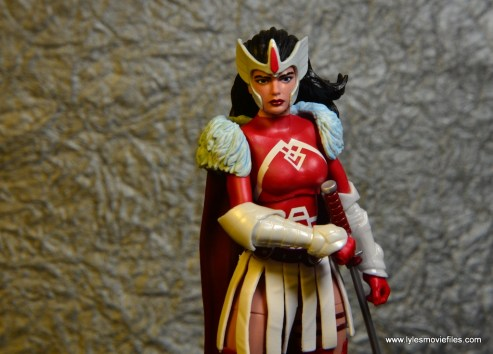 Marvel Legends A-Force Lady Sif figure review -reaching for sword