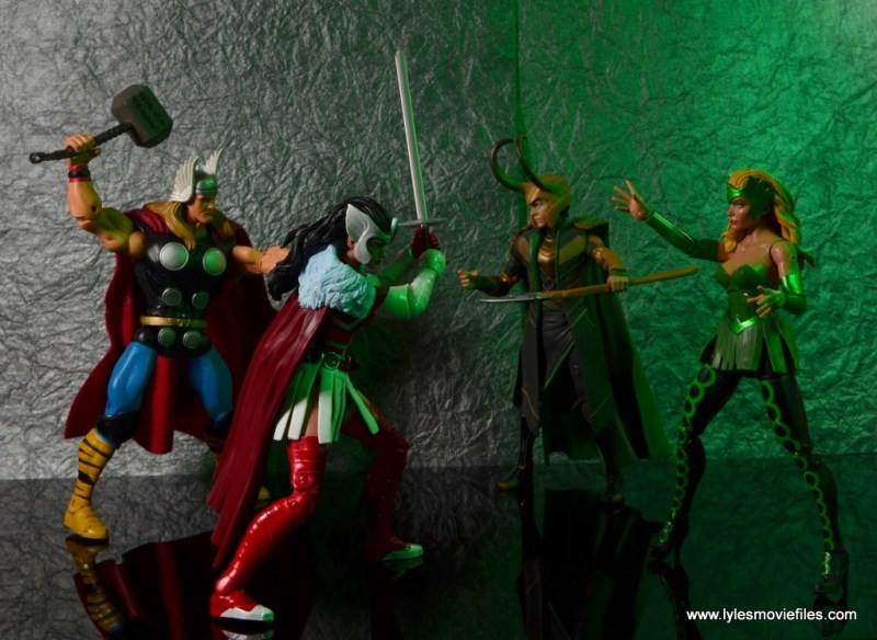 Marvel Legends A-Force Lady Sif figure review - with Thor vs Loki and Enchantress