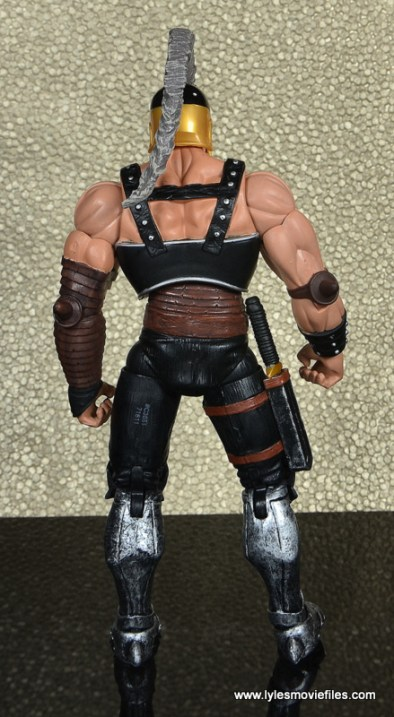 Marvel Legends Ares figure review -rear