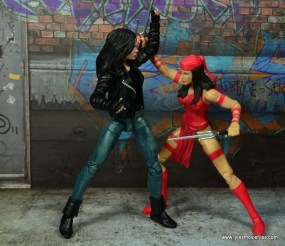 Marvel Legends Jessica Jones figure review - vs Elektra