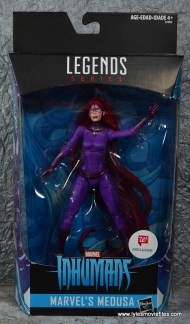 Marvel Legends Medusa figure review - package front