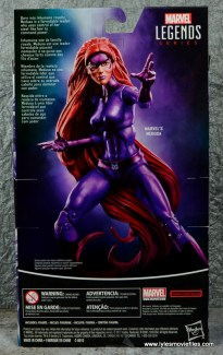 Marvel Legends Medusa figure review -package rear