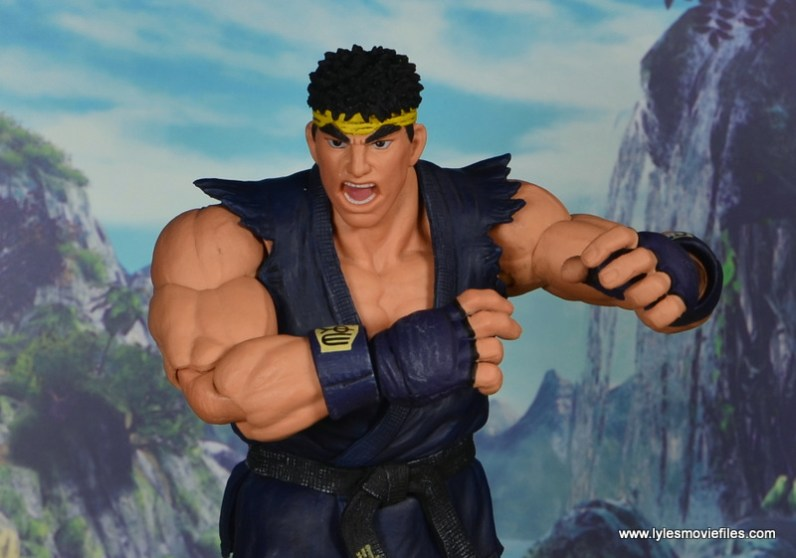 Storm Collectibles Street Fighter V Ryu figure review - close up
