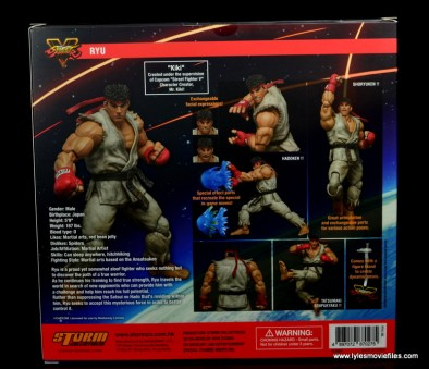 Storm Collectibles Street Fighter V Ryu figure review - package rear