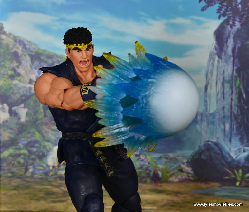 Storm Collectibles Street Fighter V Ryu figure review - shooting fireball