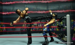 WWE Elite Hall of Fame Diesel figure review -choking out 123 Kid