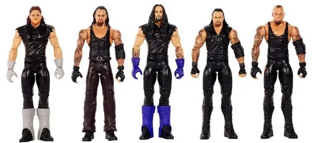 WWE Network Spotlight Action Figure Set - History of The Undertaker - Undertaker 5 Pack loose