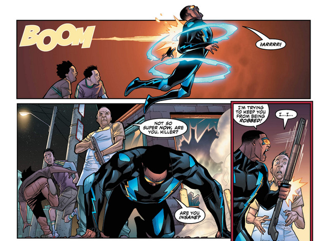 Black Lightning #2 interior art