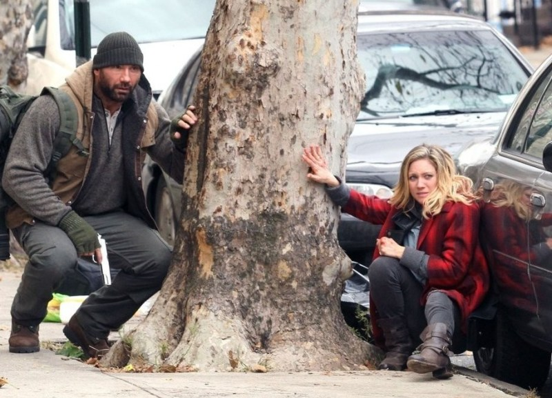 Bushwick - Dave Bautista and Brittany Snow on the run
