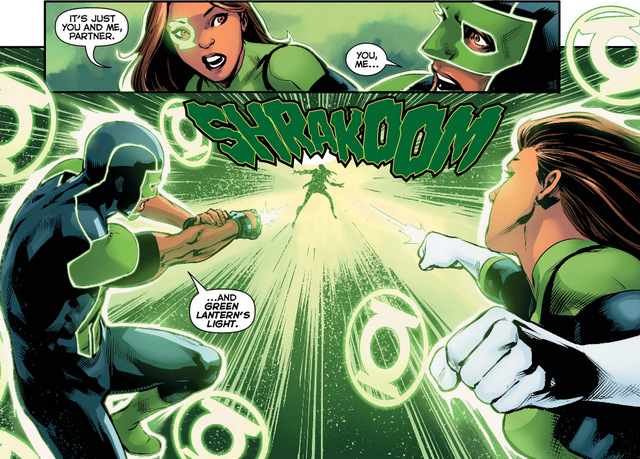 Green Lanterns #36 interior art