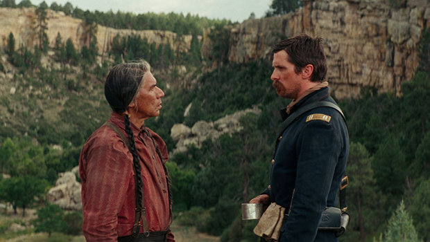 Hostiles-review Wes Studi and Christian Bale