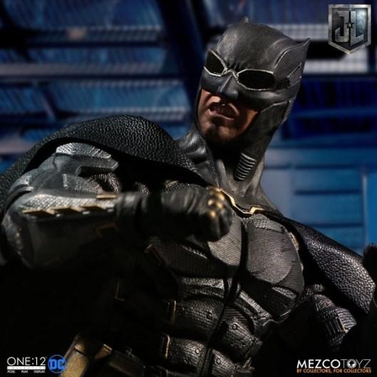 Mezco One12 Collective Justice League Movie Tactical Suit Batman figure closeup