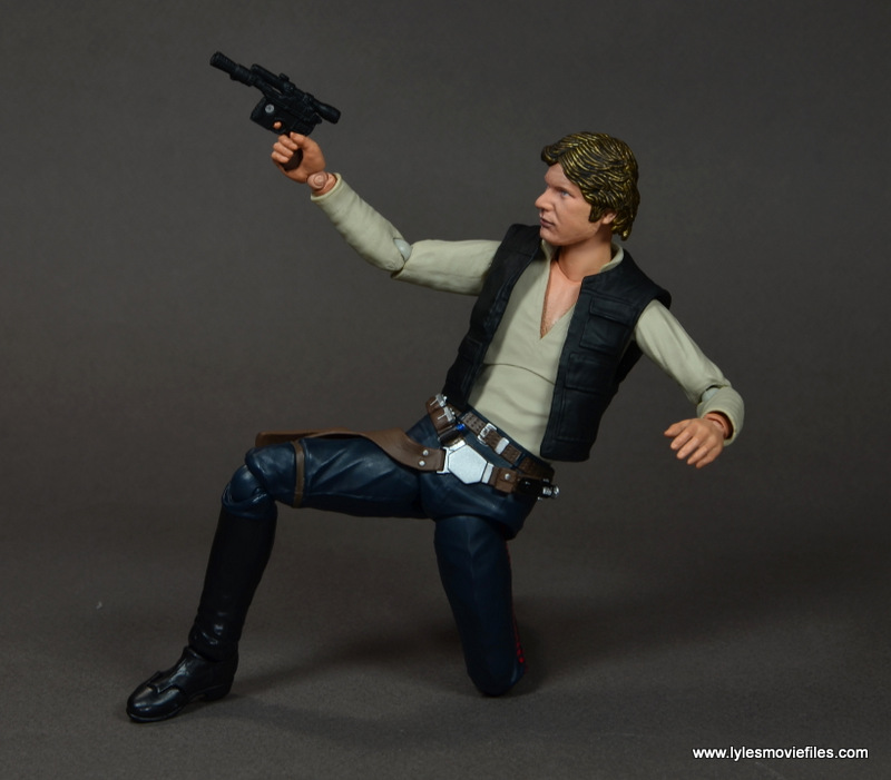 SH Figuarts Han Solo figure review -on one knee