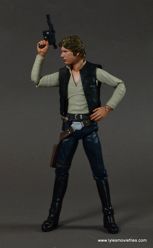 SH Figuarts Han Solo figure review -raising blaster side