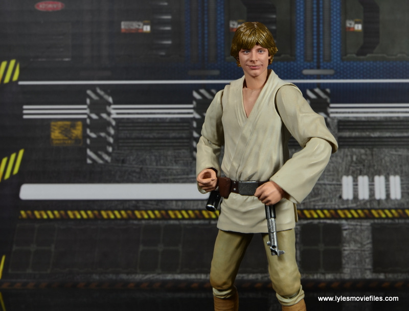 SH Figuarts Luke Skywalker figure review -happy face