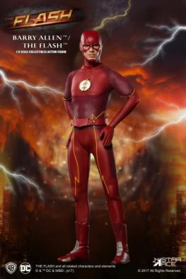 The Flash Real Master Series figure -hands on hips