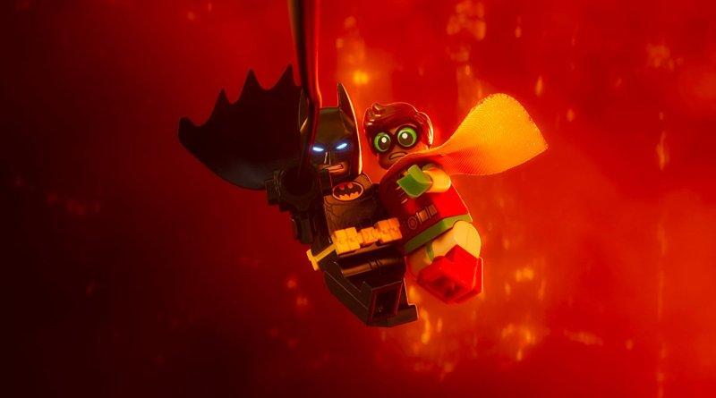 The LEGO Batman Movie - Batman and Robin swinging