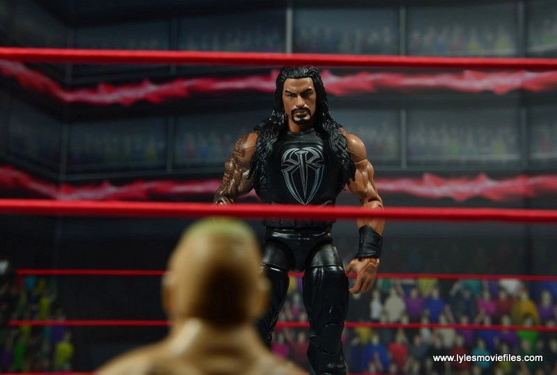 WWE Elite 45 Roman Reigns figure review - face off with Brock Lesnar