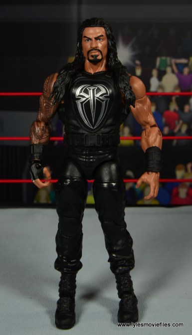 WWE Elite 45 Roman Reigns figure review - front