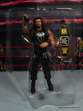 WWE Elite 45 Roman Reigns figure review - in tray