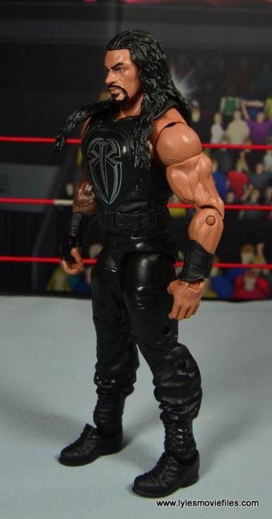 WWE Elite 45 Roman Reigns figure review - left side