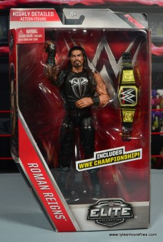 WWE Elite 45 Roman Reigns figure review - package front-002