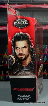 WWE Elite 45 Roman Reigns figure review - package right side