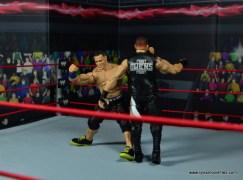 WWE Elite 50 John Cena figure review -clothesline to Kevin Owens