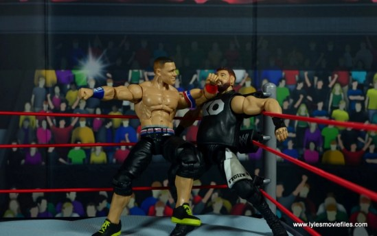 WWE Elite 50 John Cena figure review -elbow to Kevin Owens